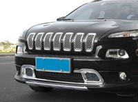 7 * abs 크롬 abs 자동차 앞 범퍼 그릴 교체 커버 트림 지프 체로키 2014 2017 자동차 스타일링 front bumper trim grill trimtrim cover -