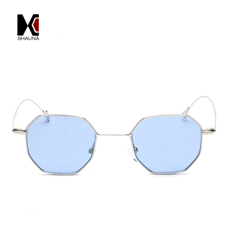 SHAUNA 9 Colors Popular Small Square Women Tinted Sunglasses Fashion Men Clear Lens Glasses UV400