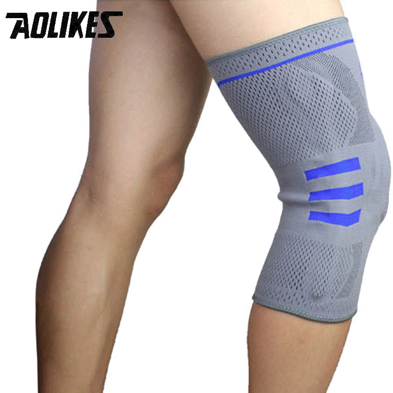 Silicone Damping Spring Kneepad Breathable knee Support 1 Piece Outdoor Riding Sports Running Climbing Basketball Knee Protector