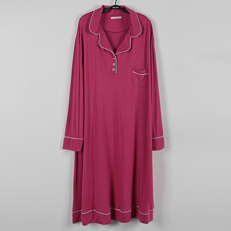 long sleeve modal cotton sleepdress (8)