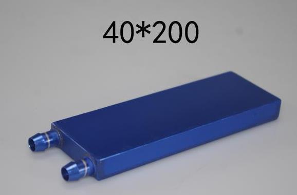 40*200mm Bloco De Resfriamento De Água De Alumínio Primário para a Água Líquida Cooler Dissipador de Calor do Sistema Para PC Laptop CPU