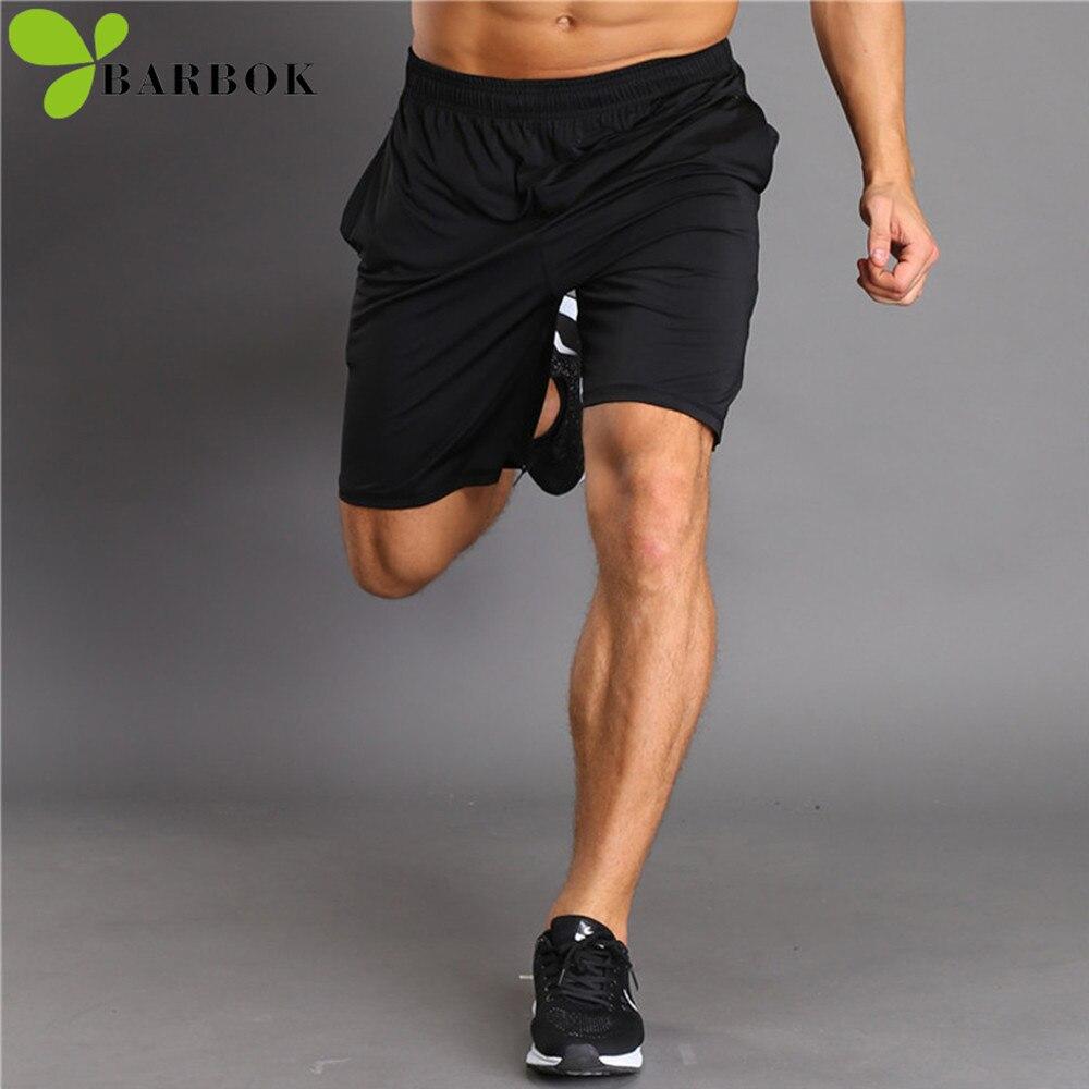 BARBOK Summer running shorts men gym sportwear Breathable Running fitness Half jogging Trousers Active