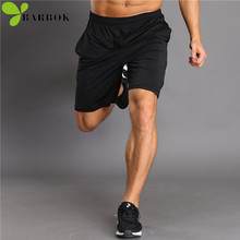 BARBOK Summer running shorts men gym sportwear Breathable Running fitness Half jogging Trousers Active