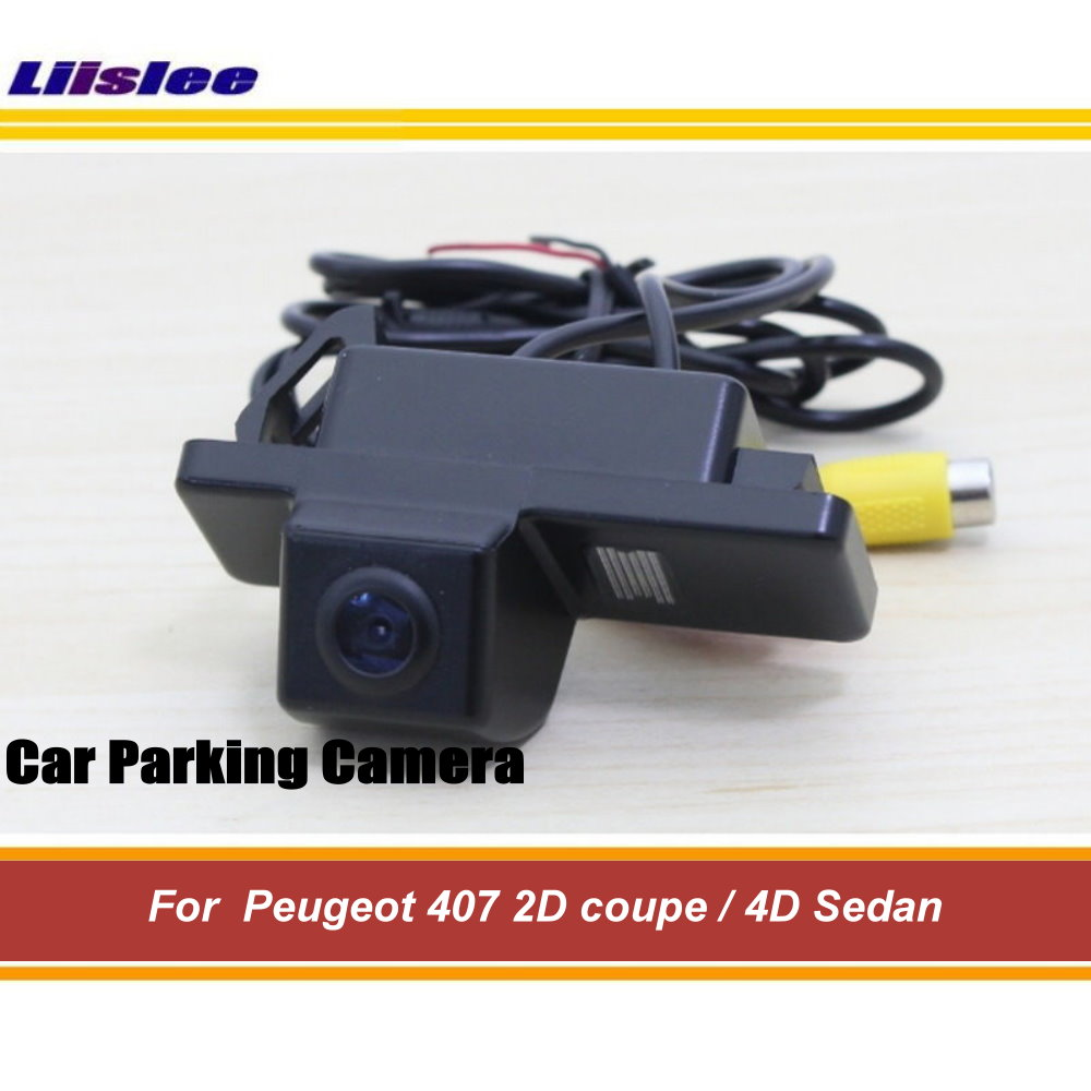 Liislee Car Reverse Parking Camera For <font><b>Peugeot</b></font> <font><b>407</b></font> 2D <font><b>coupe</b></font> / 4D Sedan / Rear View Back Up Camera CCD Night Vision image