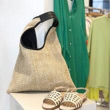 Sacs à main en rotin pour femmes, sac à bandoulière en osier tissé en paille, sacs de styliste grande capacité fourre-tout décontracté pour la plage d'été