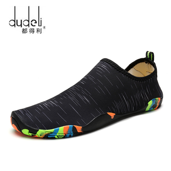 DUDELI męskie i damskie buty na plażę odkryte pływanie buty do wody dla dorosłych Unisex płaskie miękkie buty do wody Walking Lover buty do jogi tanie i dobre opinie CN (pochodzenie) Pasuje prawda na wymiar weź swój normalny rozmiar Spring2018 Slip-on Profesjonalne Szybkoschnący Elastycznej tkaniny