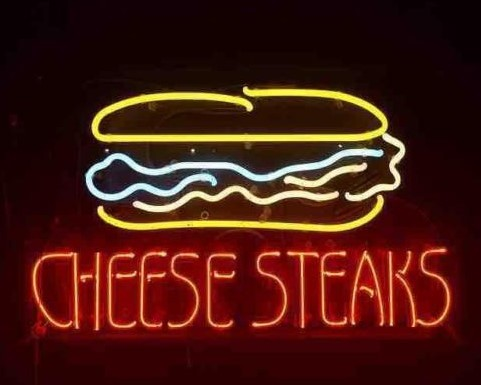 Custom Sandwich Sub Cheese Steaks Glass Neon Light Sign Beer Bar