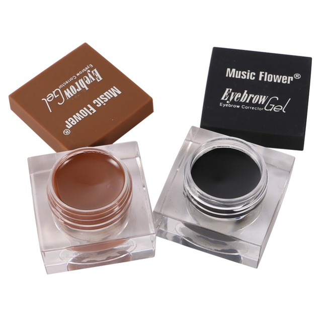 Cosmetics Professional Music Flower Eyebrow Makeup Kit Eye Brow Gel