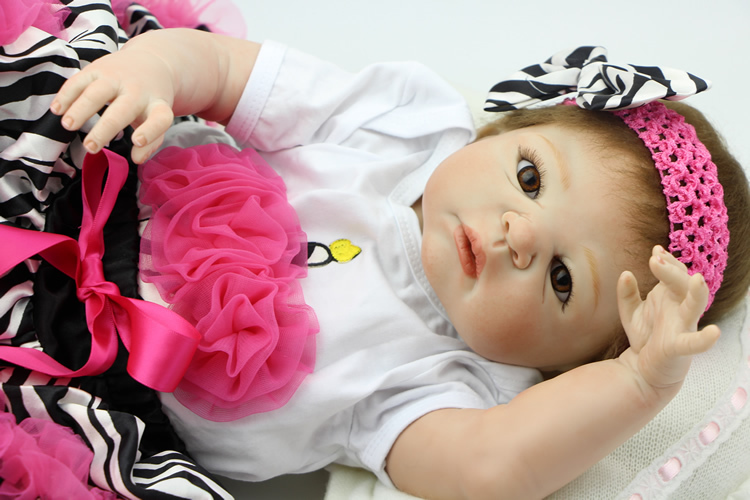 23 Inch NPK Reborn Babies Doll Full Silicone Vinyl Baby Alive Dolls Realistic Princess Girl Kid Best Playmate sleeping realistic baby doll reborn 20 inch newborn full silicone vinyl alive babies dolls with leopard dress kids playmate