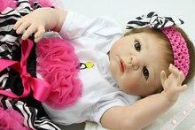 23 polegada NPK bebês Reborn boneca bebê vinil Silicone cheio bonecas vivas realista Princess Girl Kid melhor Playmate