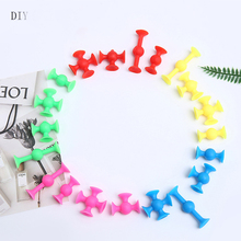 33Pcs Funny Construction Toys Mini Silicon Building Block Sucker Suction Cup Assembled Educational Construction Toy