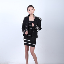 Royal Warm Thickness Women and Men Noble Fashion Coat with Beading In China BL003