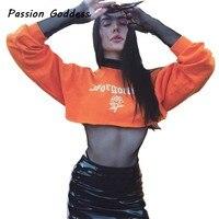 Mode Orange Lose Hoodies Sweatshirts 2018 Frauen Rose Blume Brief Gedruckt Jogger Pullover Sweat Trainingsanzug Moleton Sudaderas