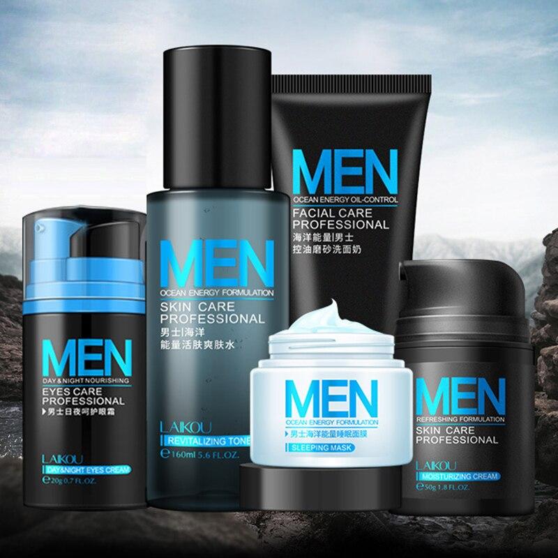 Men skin care set Face Cream eye cream Serum Skin Care Whitening Acne Treatment Moisturizing Face Care Repair Oil Control 5pcs
