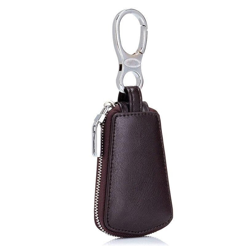 New Women/'s Men Genuine Leather Car Key Chain Ring Cases Holder Bag Purse