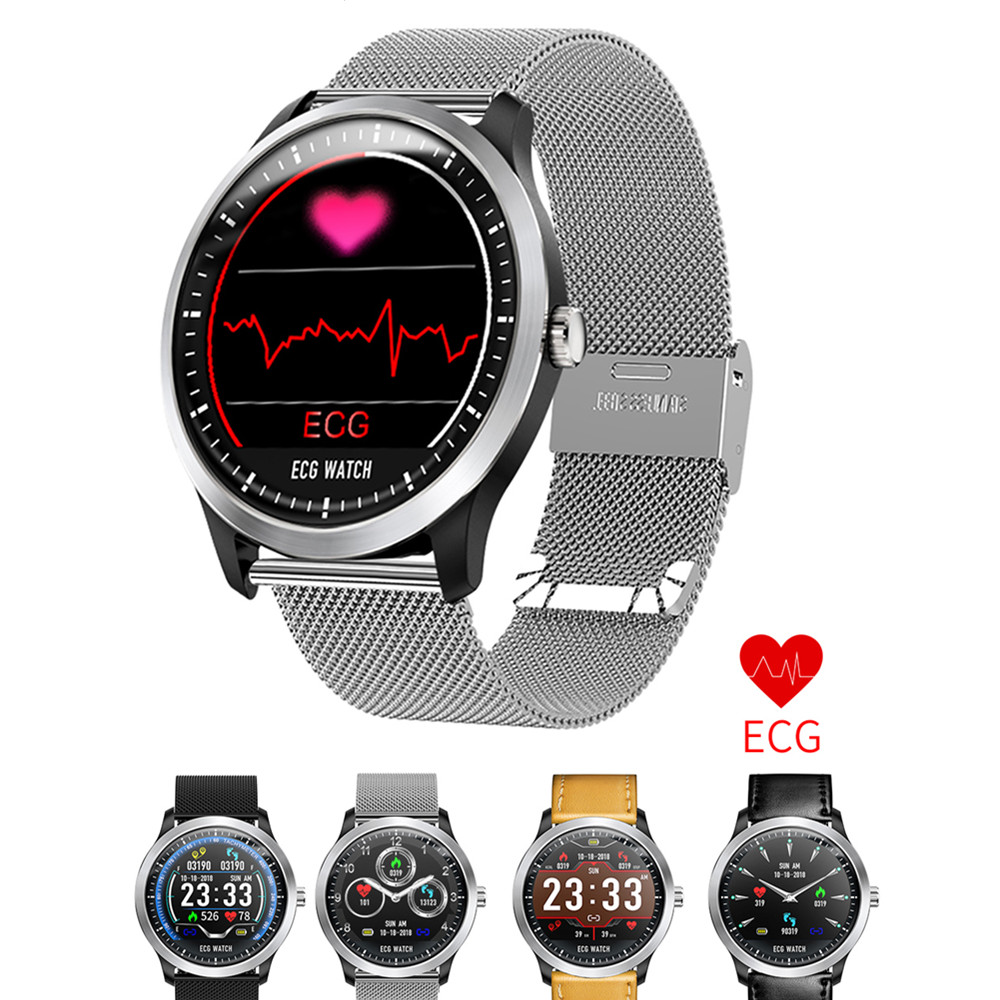 ECG PPG smart watch with electrocardiograph ecg display holter ecg heart rate monitor blood pressure smartwatch