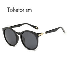 Toketorism 2017 new fashion luxury zonnebril mannen round sunglasses polarized women sun glasses 9468