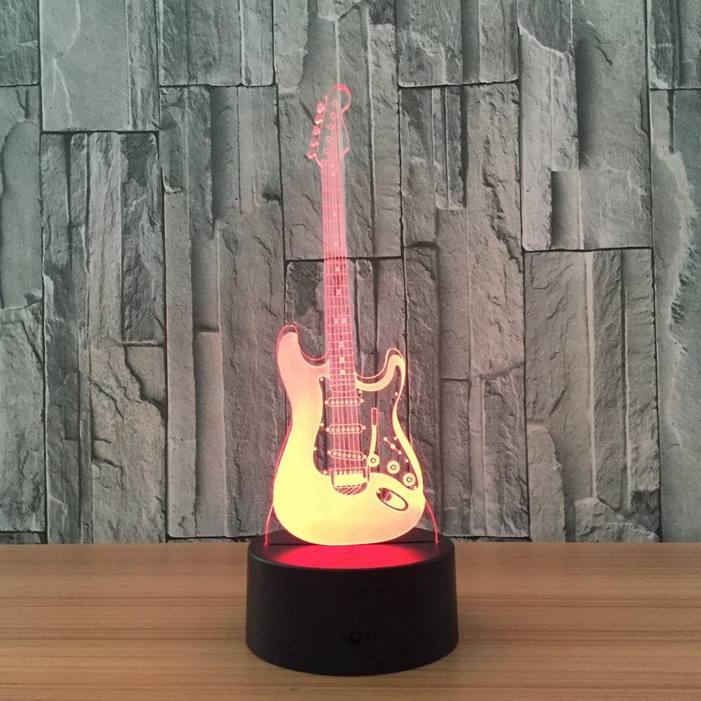 Luzes da Noite toque remoto interior lâmpada atmosfera Formato : Guitar