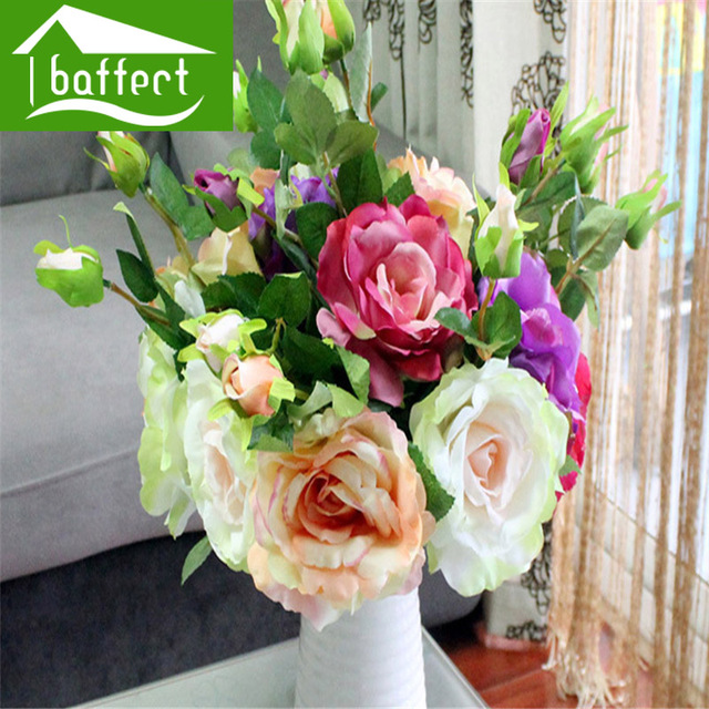 aliexpress  buy rose  color flowers bunch high quality silk, Beautiful flower
