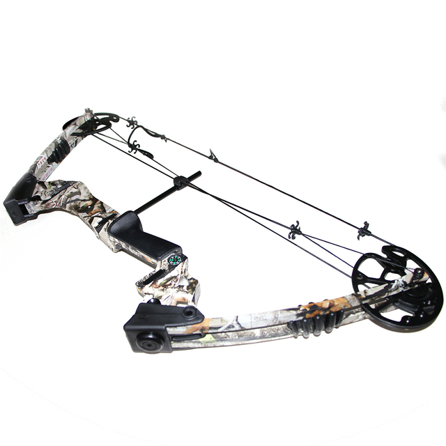 One Set Archery Camouflage Compound Bow With Draw Weight 20 70lbs