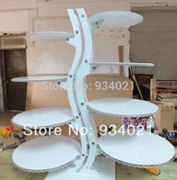 Free Shipping 8 Tier White Wedding Acrylic Cake Display Plexiglass Cake Rack For Wedding Acrylic Party Cake Stand