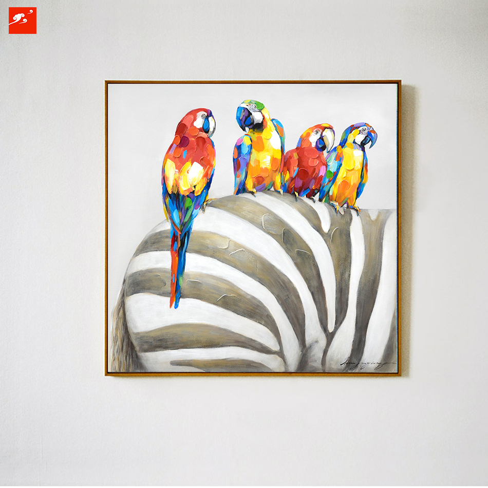 Achetez en gros perroquet peintures l 39 huile en ligne des grossistes p - Peinture a l huile prix ...