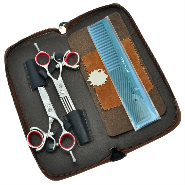 5.5 6.0 Professional Hair Scissors Set 360 Degree Rotate Salon Hair Cutting Scissors Thinning Shears, LZS0443 30 teeth thinning scissors thinning shears japan quaity 6 thinning scissors for hair salon s styling use