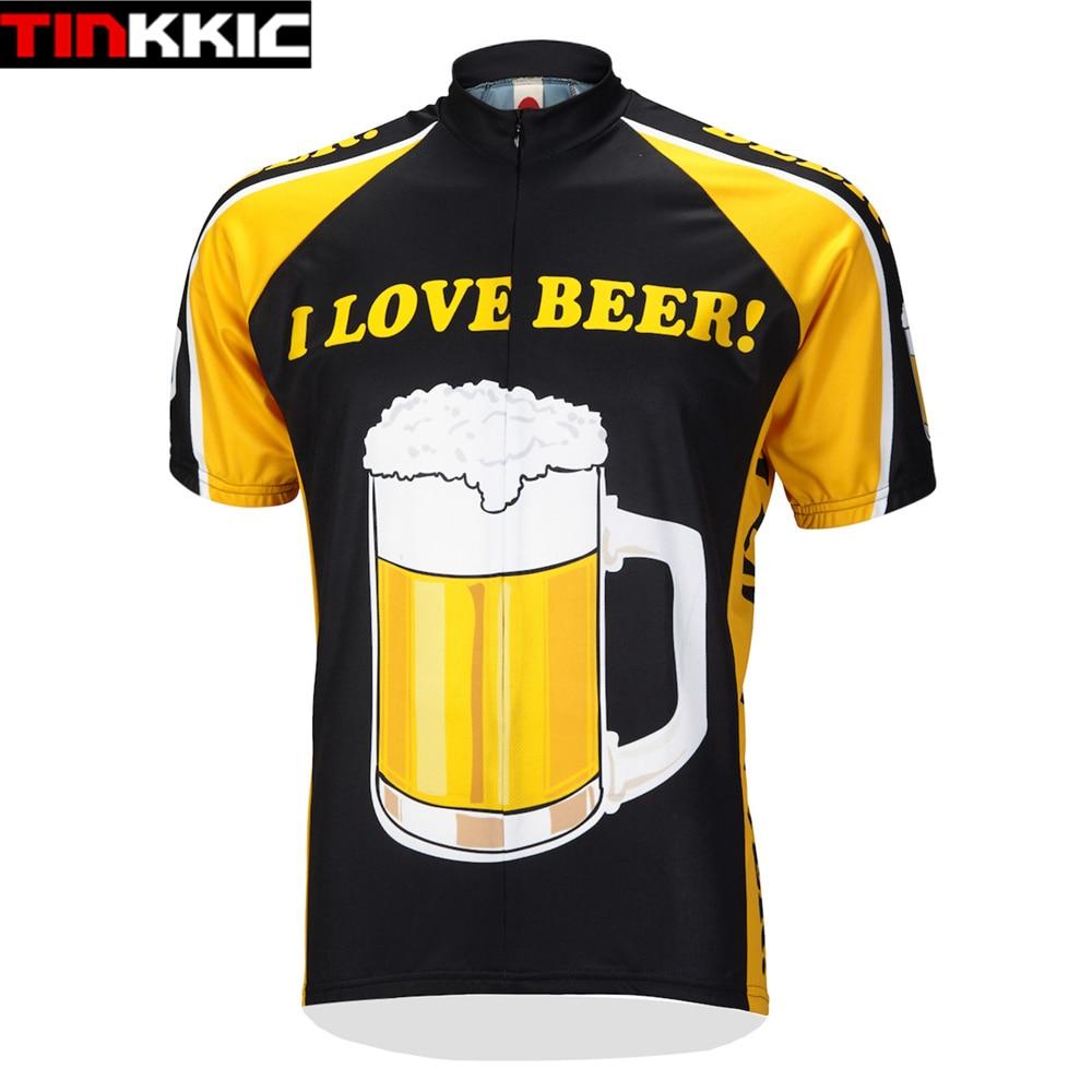 Mens I Love Beer Cycling Jersey Maillot Ciclismo Short ...