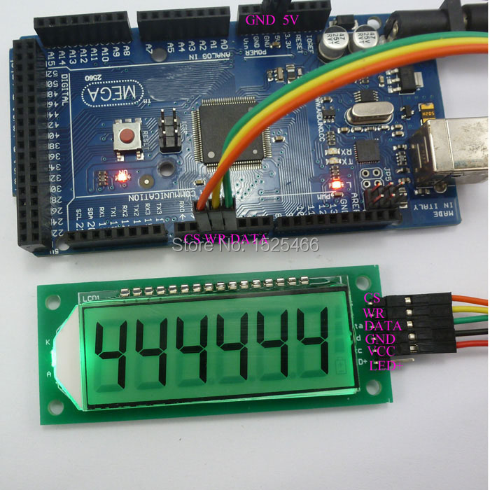 US $4 49 10% OFF|with UNO MEGA2560 example Code ! 6Bit 7 segment LED SPI  Digital tube LCD Display Controller Module for Arduino DUE Pro mini Nano-in
