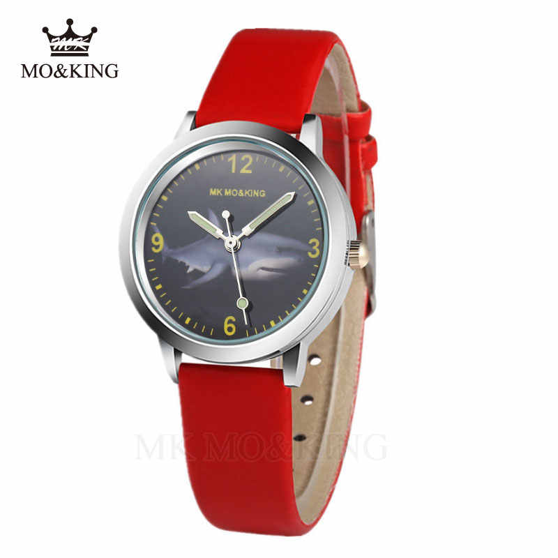 Di lusso mk dei bambini delle ragazze dei ragazzi bambini Al Quarzo Educare Marine Dello Squalo Del Fumetto Modelli di contenitore di vigilanza di Orologio da polso regali braccialetto relojes