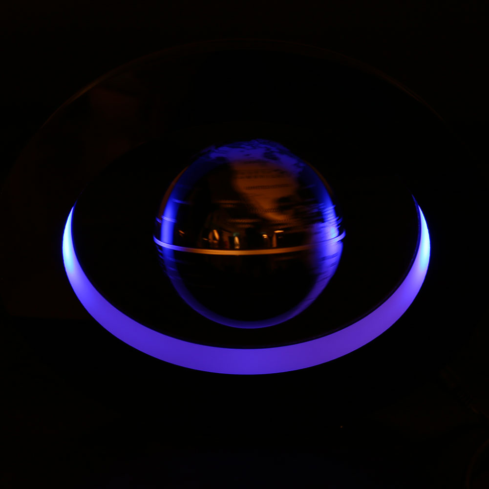 LED Light Magnetic Levitation Floating Globe English World Map Ornaments