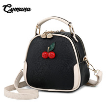 CGMANA 2018 Fashion Girls Crossbody Bag Female Shoulder Cherry Pattern Bolsa Feminina Brand Leather Luxury Handbag For Women