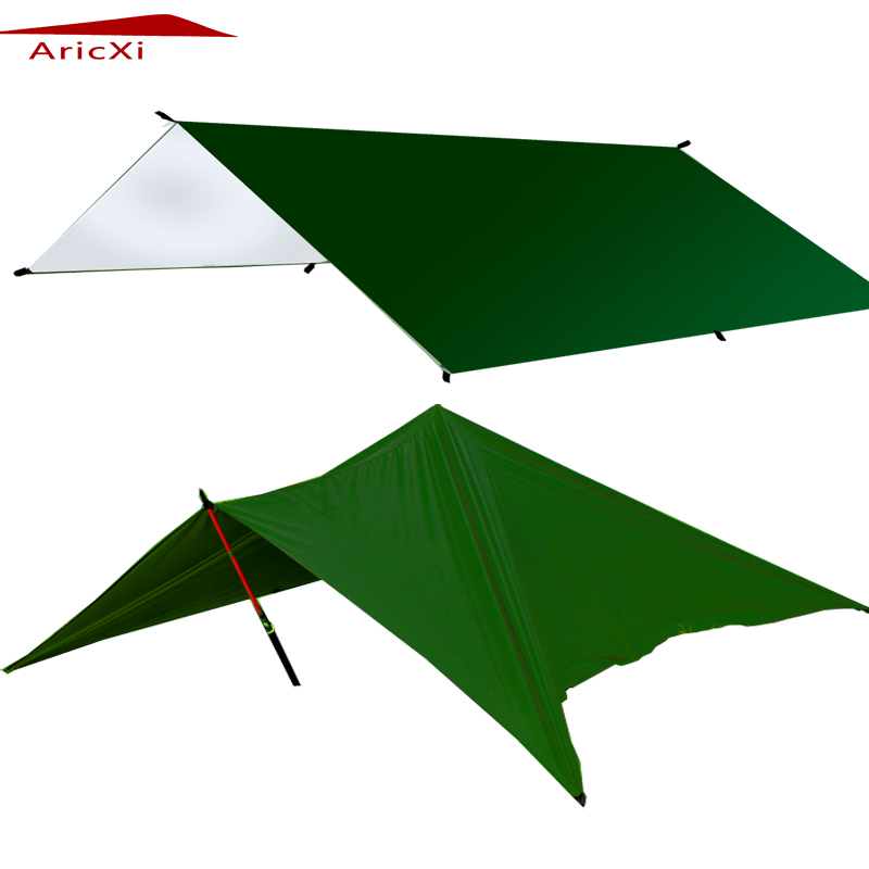 ARICXI Silver Coating Anti UV Ultralight Sun Shelter Beach Tent Pergola Awning Canopy 210T Taffeta Tarp Camping Sunshelter ultralight sun shelter tent waterproof awning hiking portable canopy outdoor gazebo camping tent 20d silicone nylon tarp tent