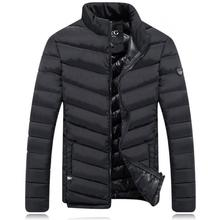 Mens Down Jacket Plus Size 3XL 2019 New Winter Fashion Warm Slim Autumn Casual Cotton Coats