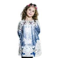Kids Dress For Girls Winter Princess Dress Infant Party Dress 2016 Unicorn Print Children Autumn Dresses