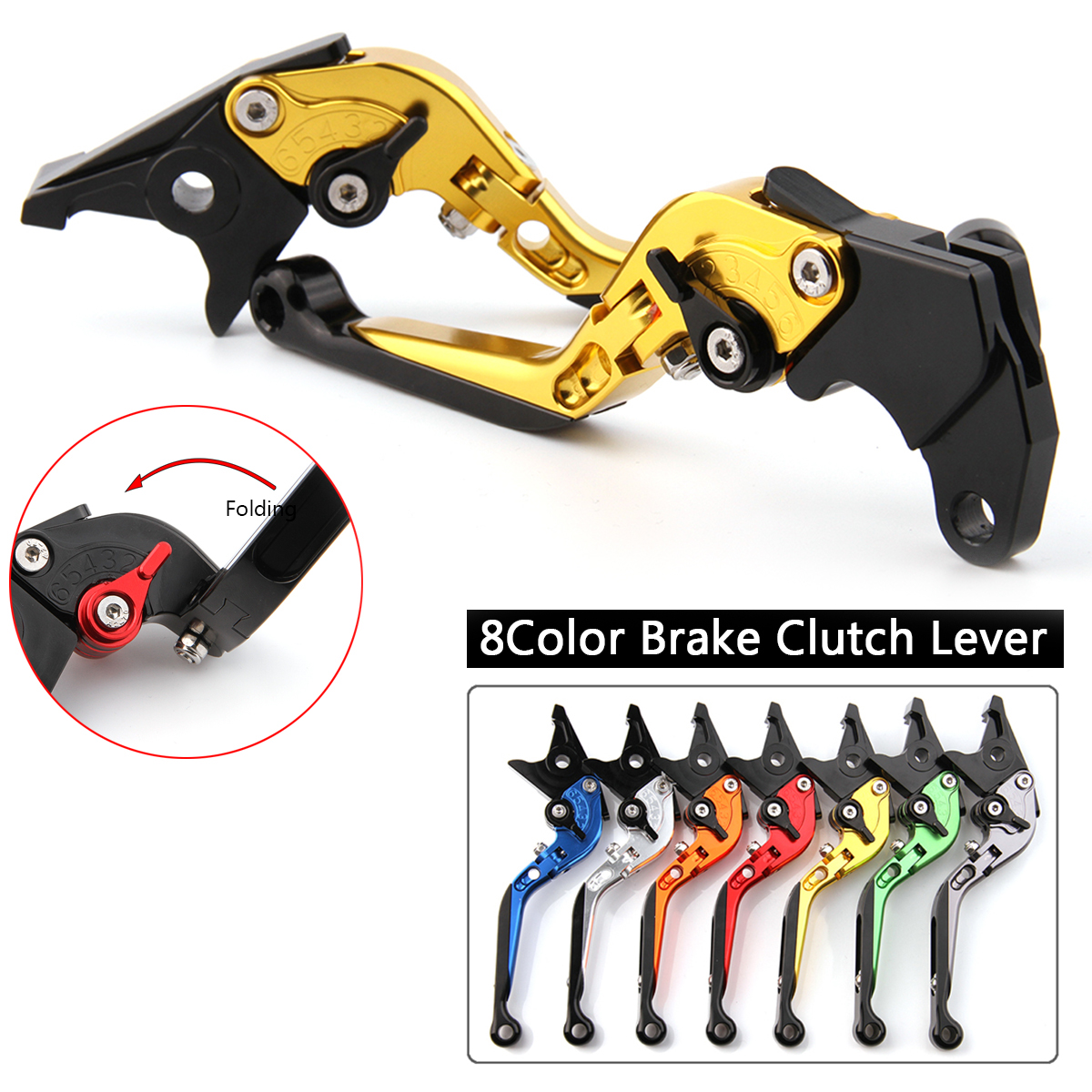 CNC Levers for Ducati SuperSport SS 2017 2018 Motorcycle Racing Adjustable Folding Extendable Brake Clutch