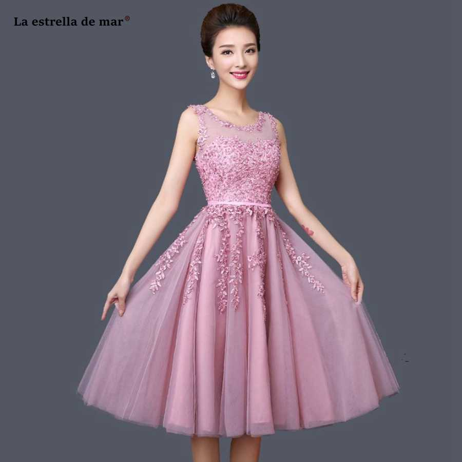146ebbc4a0f9 robe demoiselle d honneur best selling Scoop neck tulle pearl A Line blush  silver red