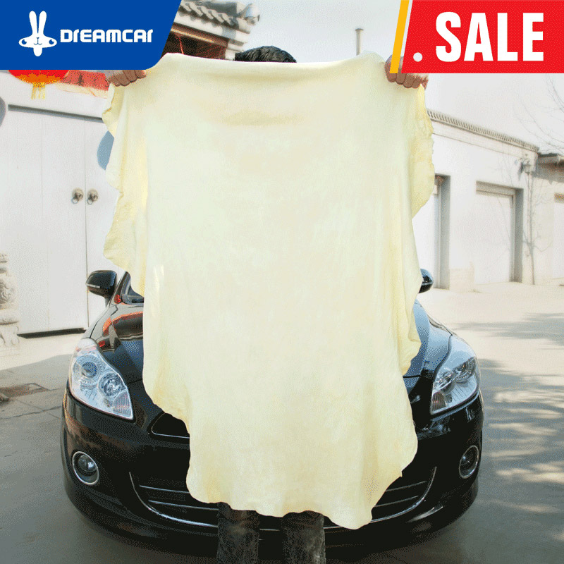 DREAMCAR Car Towels Natural Shammy Chamois Leather Car Cleaning Towels Drying Washing Cloth Sponge Household Products