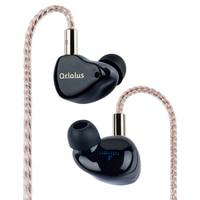 Black Oriolus Earphone Denmark Sonion BA Driver +10mm custom dynamic drive Hybird Professional HIFI Music Stereo EMI by Jaben