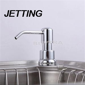 Jetting High Quality Solid Mount Pump Countertop Kitchen Sink Soap Dispenser Set With Bottle Nourishing Blood And Adjusting Spirit Liquid Soap Dispensers