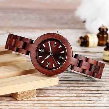 Reloj para mujer en madera pulso madera 1