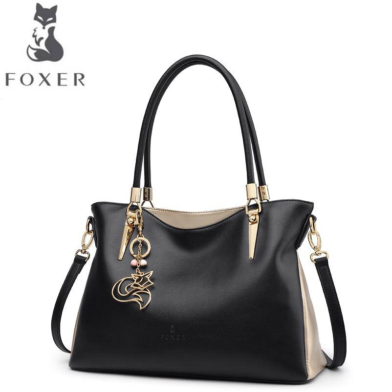 купить FOXER 2017 New women leather handbags women famous brands designer fashion shoulder bag women leather handbags shoulder bag по цене 6571.96 рублей