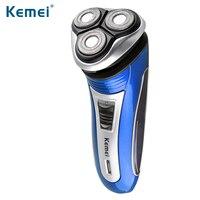 Kemei 3 Heads Wareless Electric Shaver Triple Blade Electric Rechargeable Shaving Razors Men Face Care 3D