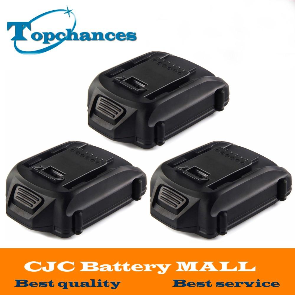 Haute Qualité 3 pièces Plus Récent 20 V 2000 mAh Lithium batterie De Remplacement pour WORX wg151 wg151.5 wg155 wg155.5 wg251 wg251.5 wg255