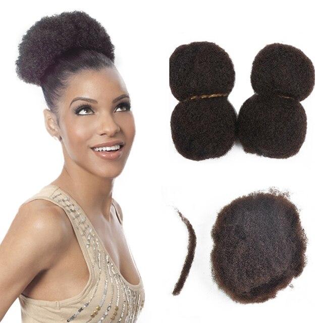 Yotchoi Tight Afro Kinky Curly Human Hair 4pcs Lot