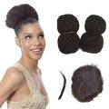 Yotchoi apretado afro rizado cabello humano rizado 4 unids/lote senegalese twist pelo cosplay para havana mambo crochet giro trenza del pelo