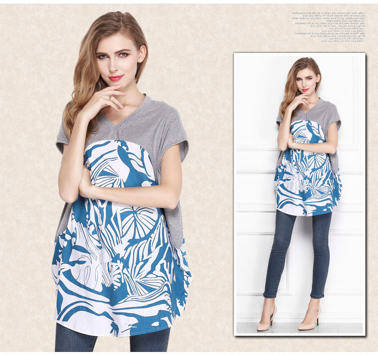 2016 Baru Musim Panas Longgar T Shirt Ukuran Besar Pencetakan wanita - Pakaian Wanita - Foto 2
