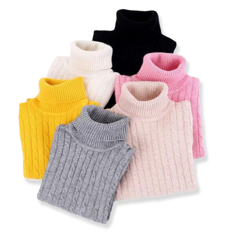 Kids Turtleneck Sweater Winter Children's Soft Cashmere Sweater Warm Teenager Girls & Boys Pullover Wool Sweaters Jumpers 3-13 Y autumn winter children turtleneck kids sweaters 10 solid colors girls sweater boys pullover basic shirt 2 10 years