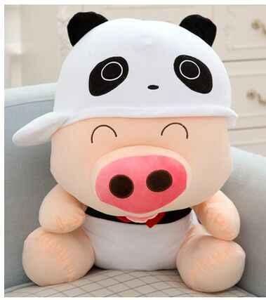 Милая панда дизайн около 50 см Свинья Плюшевые игрушки Мягкая Подушка игрушка, подарок Рождественский подарок 0183