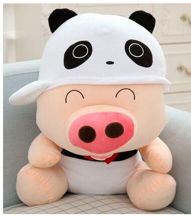 Belle conception de panda environ 50 cm cochon en peluche jouet doux oreiller jouet, cadeau de noël présent 0183